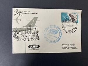 Postal History Mexico First Flight Mexico City - Brussels Sabena Boeing 1960