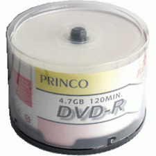 600 Princo 8X White Top DVD-R Blank Disc 4.7GB Free Standard Shipping