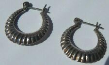 Vintage Silver Hoop Earrings  S75
