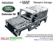 Sheepo's Lego Technic Land-Rover Defender 90 Bodywork(MAP) ONLY INSTRUCTIONS