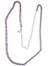 (02020) festlich edle Halskette - extralang - violetter Strass