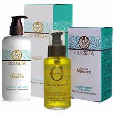 OlioSeta ® Kit VIP Olio + Shampoo Oro del Marocco Argan & Linssed Oils Semi Lino