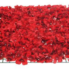 Artificial Silk Hydrangea Flower Mat, Red, 24-Inch