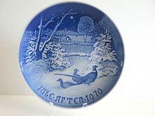 B&G Bing & Grondahl 1970 Christmas Plate Pheasants in the Snow Denmark