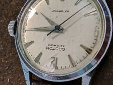 Vintage Croton Aquamatic Men's Watch Swiss Made Running Excellent 34mm original
