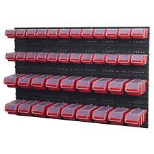 Stapelboxen Wandregal Sichtlagerkästen 6 x Wandregal Lagersystem 42 Boxen rot
