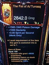 Diablo 3 Primal ancienne le poing de azturrasq patch 2.5 moine poing arme XBOX 1