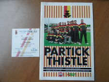 Division 1 Teams L-N Football Programmes with Match Ticket