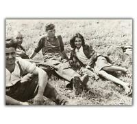 """War Photo French girl engaged to German soldier WW2 Glossy """"4 x 6"""" inch G"""