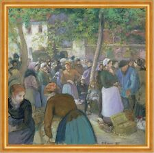 Poultry Market at Gisors Camille Pissarro mercato commercianti pollame B a2 00927