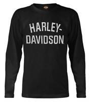 Harley-Davidson Men's Shirt, Heritage H-D Script Long Sleeve, Black 30296633