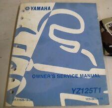 YAMAHA YZ125T1 MOTORCYCLE OWNER'S SERVICE SHOP REPAIR MANUAL C.R. 2004