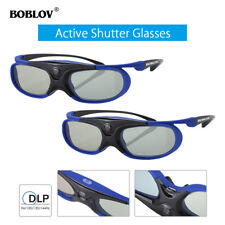 2Pcs 3D Active Shutter Glasses DLP-Link Home Theater Blue For Optoma BenQ Acer