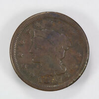 1847 BRAIDED HAIR 1C LARGE CENT ** NICE DETAIL Lot#J007