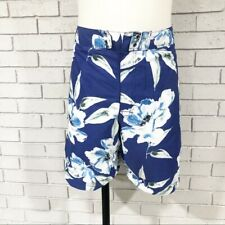 "J.Crew Men 9"" Large Blue Floral Print Board Shorts - Size 40"