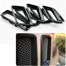 Fit For 14-16 Jeep Grand Cherokee Black Grill Grille Inserts Ring 7PCS SET Kit