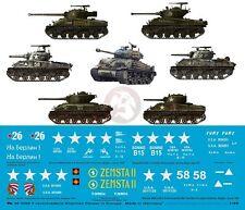 """Peddinghaus 1/48 Sherman Tank Markings (incl. """"Fury"""") Europe WWII (7 tanks) 3209"""