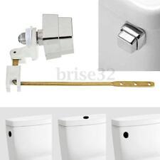 Push Botton Side Mount Toilet Tank Lever Flush Handle Brass Arm Fits Most Toliet
