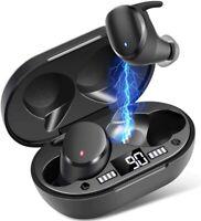 IPX7 Waterproof Wireless Earbuds, Bluetooth 5.0 Wireless Earphones Mini Portable