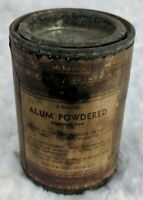 Vintage McKesson's & Robbins Alum Powdered Tin with Label 2 oz  Display Only