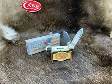 Case / Hollingsworth 3 Blade German Canoe Knife With White Handles SN 0000 - 82A