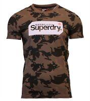 Superdry Mens Core Logo Tag Short Sleeve Crew Neck Print T-Shirt Army Camo