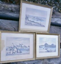Lot lithograph engraving raoul delisse Bréhat the ropery the guerzidot paint