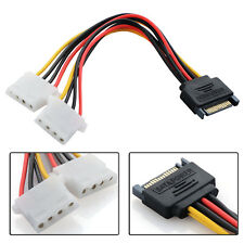 SATA 15CM Molex Power 15 Pin Male To 4 Pin Female Connector Cable Hard Disk