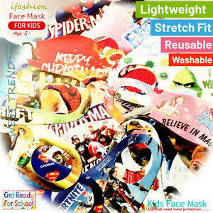 Kids/Toddler reusable Face masks Lots of Characters pls see drop down menu