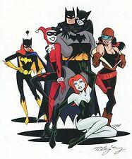 Batman Poison Ivy Harley Quinn Catwoman Roxy Rocket Batgirl Signed 11x14 Print