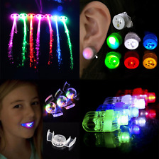 👻 HALLOWEEN LED Hair Extension Earrings Flashing Mouth Finger Light Party Kid👻