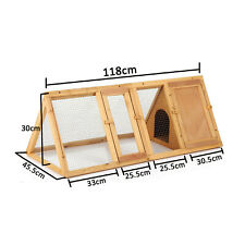 Outdoor Wooden Rabbit Hutch Triangle Guinea Pig Home Ferret Cage Pets Large