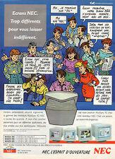 Publicité 1992 Ecrans NEC informatique télécommunication Multi Sync FG