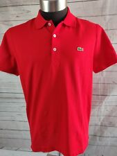 Lacoste Mens Classic Cotton Short Sleeve slim fit Polo Shirt xlarge