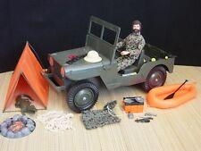 Gi Joe Vintage Sandstorm Survival Set w/ Land Adventurer & Green AT Jeep