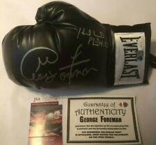 Evander Holyfield & George Foreman Autographed Everlast Boxing Glove JSA COA