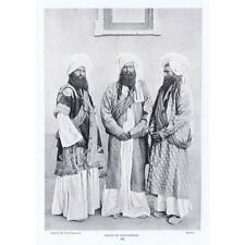 PAKISTAN Chiefs of Baluchistan - Antique Photographic Print 1902