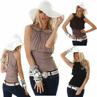 Womens Top Ladies Blouse Clubbing Party Pleated Collared Shirt Size 6 8 10 12