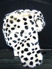 faux fur black and white spotted Dalmatian Dog Cosplay aviator Trapper Ski hat