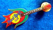 AMSTERDAM DUTCH RED TULIP OPENING FLOWER GUITAR Hard Rock Cafe PIN TAC BACK