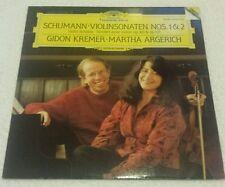 DG 419 235-1  SCHUMANN VIOLIN SONATAS 1 & 2 KREMER ARGERICH DIGI LP NM