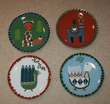 "New West Elm 9"" Animal Celebration Set of 4 Plates"