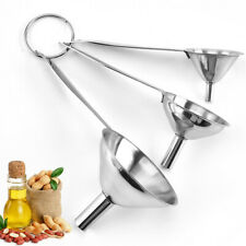 3pcs Multifunctional Funnels Stainless Steel Filter Funnel Kitchen Tools Set