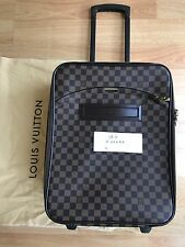 AUTH Louis Vuitton Pegase 45 Carry on Rolling Luggage Damier Ebene Great