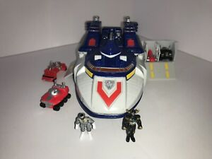 99 Power Rangers Lost Galaxy Zennith Carrier Megazord Micro Playset 98% COMPLETE