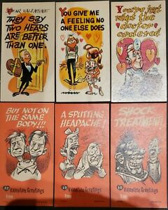 1961 topps VALENTINE GREETING CARDS LOT OF 44 CARDS, FEW DUPLICATES