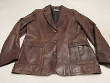 WOMENS BEAUTIFUL THE TERRITORY AHEAD LEATHER JACKET SIZE 12 GREAT SHAPE