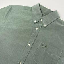 Fred Perry Sportswear Men's 40 Short Sleeve Button Down Green Shirt