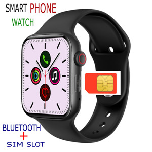 2021 Smart Watch GSM SIM SLOT Camera Bluetooth Heart Fitness Tracker iOS Android