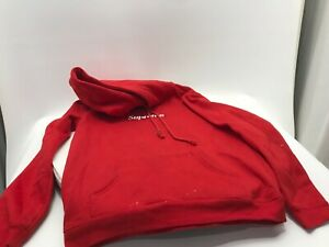 Supreme Red Sweatshirt See Pictures Dirty Rough Condition Size L